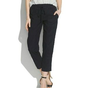Madewell tie-front trousers